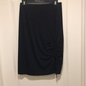 Rampage black adjustable slit polyester skirt